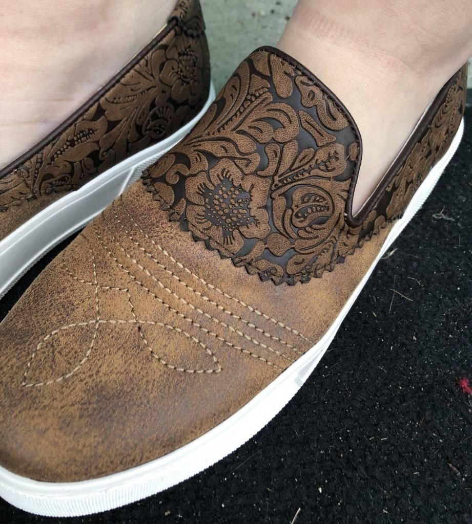 Volatile Rosecrans Tooled Slide On Shoe