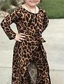 Girls Hi Low Cheetah Top