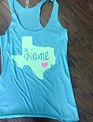 Back Road Beauties Green Glitter Home Turquoise Tank