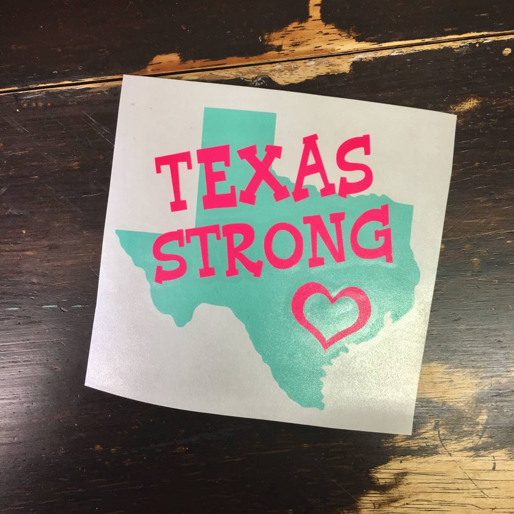 Back Road Beauties Texas Strong Vinyl Cup Decal