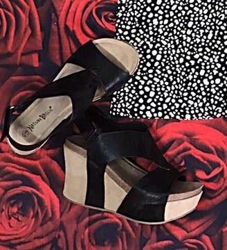 Black Truce Wedge Sandal