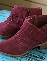 Naughty Monkey Cuthbert Fringe Red Booties