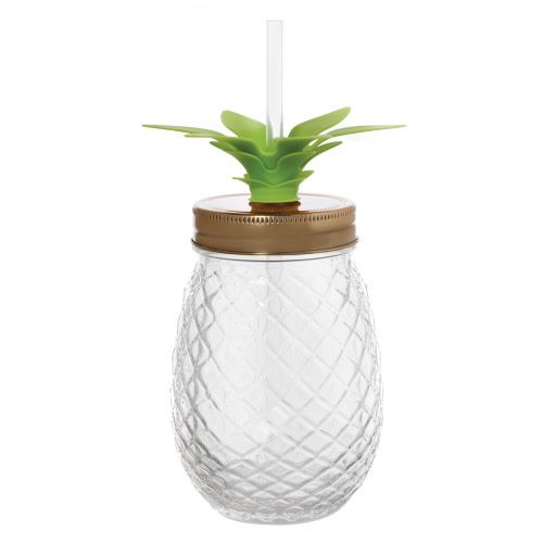 Clear Pineapple Sipper