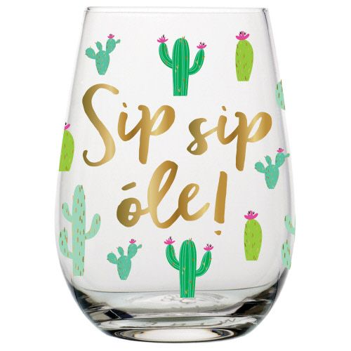 20oz Stemless Wineglass Sip Sip Ole
