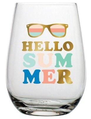 20OZ STEMLESS WINE HELLO SUMMER