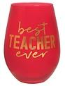 30OZ STEMLESS WINE BEST TEACHER EVER