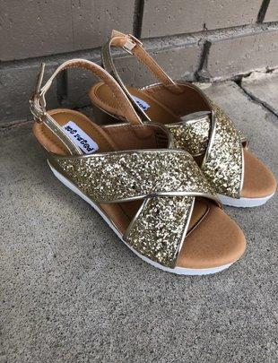 Girls Glam Me Up Gold Sandal
