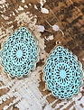 Back Road Beauties Baby Blue Mandala Teardrop Earring