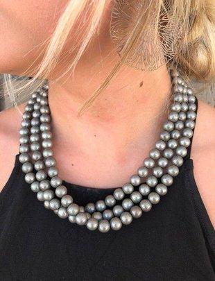 SILVER STRIKE Silver 3 Strand Beads