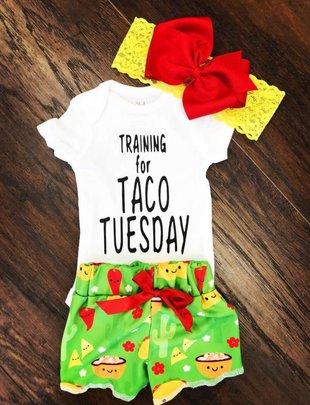 Kids Taco Tuesday Shorts