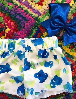 Blue Flowers In The Spring Shorts