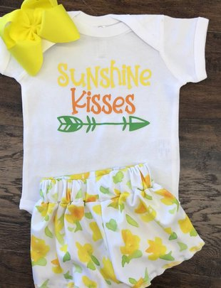 Back Road Beauties Kids Sunshine Kisses Onesie