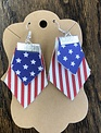 Back Road Beauties God Bless America Arrow Mini Leather Earrings