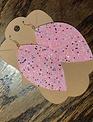 Back Road Beauties Bubble Gum Pink Glitter Earrings w Multi Colored Glitter -Petal