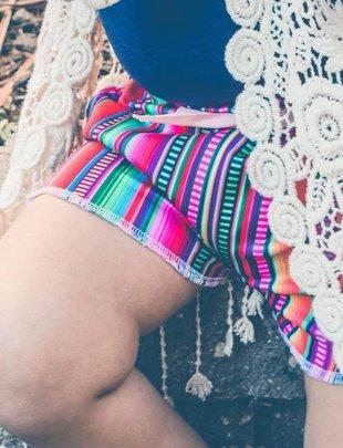 Little Girl Serape Shorts