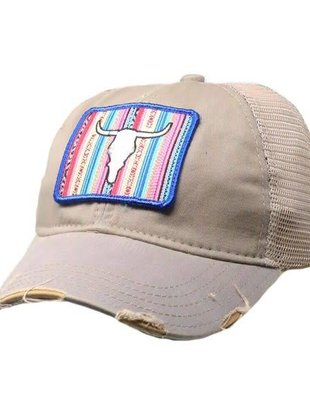 Judith March Serape Skull Patch Cap