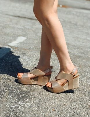 Rose Gold Wedge Sandal