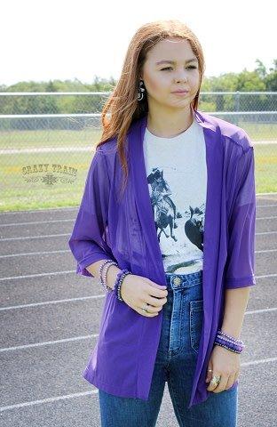 Crazy Train Purple Kickoff Short Kimono