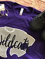 Back Road Beauties Girls Go Wildcats Purple Tee