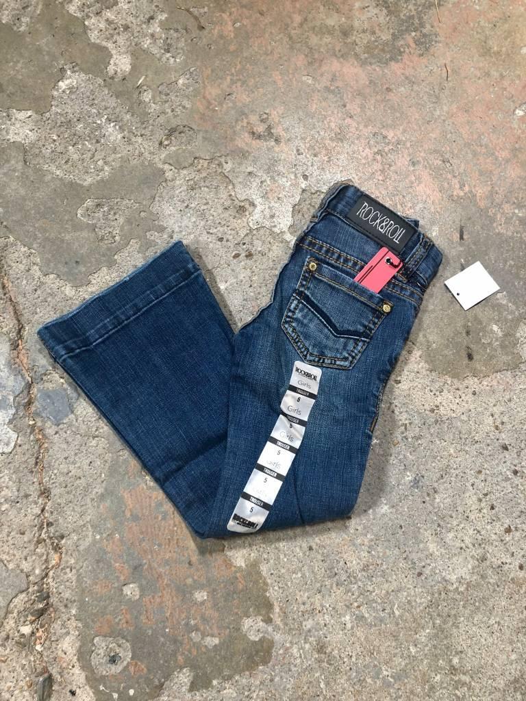 Girls Dark Wash Denim Trouser