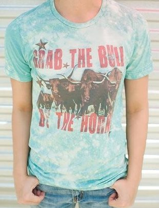 """Annette's Gina """"Grab the Bull by the Horns"""" Tee"""