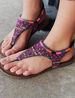 Volatile Puntacana Multi Bead Sandal
