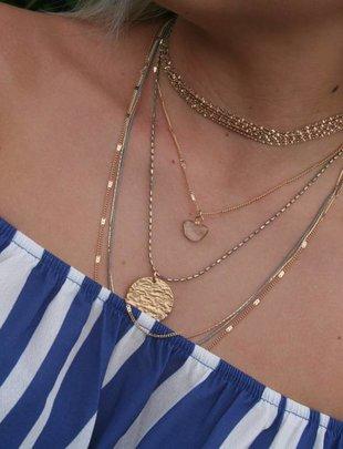 Multi Strand Grey/Silver Necklace
