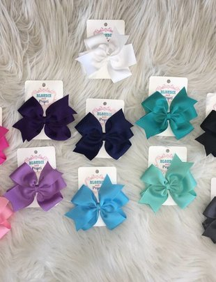 Blondie and Pearl Pinwheel Bows
