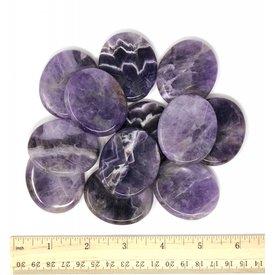 Chevron Amethyst - Worry Stone (12 piece parcel