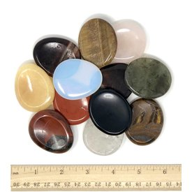 Assorted Stones - Worry Stones (12 piece parcel)
