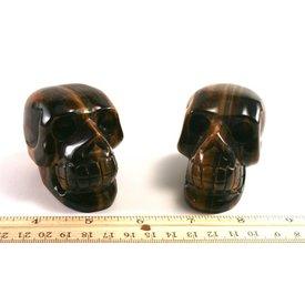 Yellow Tiger's Eye - Skulls (3 inch)
