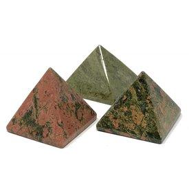 Unakite - 5cm Pyramid