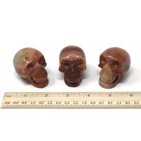 Banded Carnelian - Skulls (2 inch)