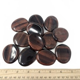 Red Tiger's Eye - Worry Stone (12 piece parcel)