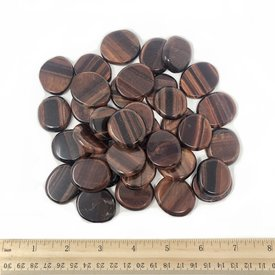 Red Tiger's Eye - Palm Stone Small (1 lb parcel)
