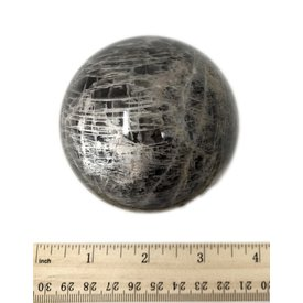 Black Moonstone Sphere - (e)5