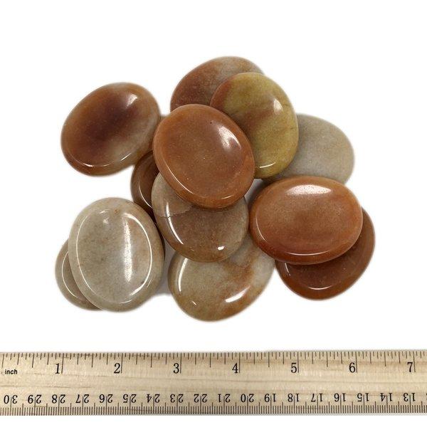 Red Aventurine - Worry Stone (12 piece parcel)