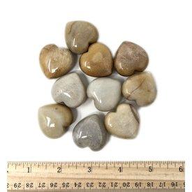 Peach Moonstone Hearts - 30mm (10 piece parcel)