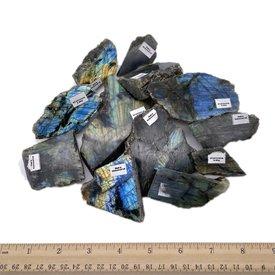 Labradorite Slabs - One Side Polish (1 kg parcel)