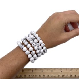 Howlite - 8mm Bracelets (5 pack)