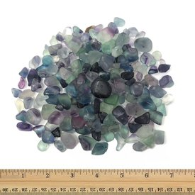 Rainbow Fluorite - Tumbled Micro (1 lb parcel)