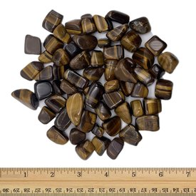 Yellow Tiger's Eye - Tumbled Small (1 lb parcel)