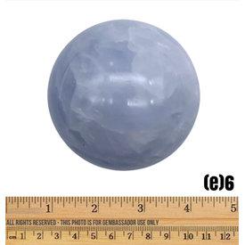 Blue Calcite Sphere - (e)6