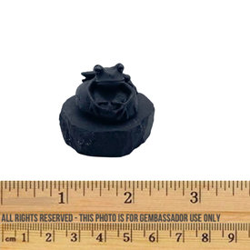 Shungite - Compression Figurine - Frog