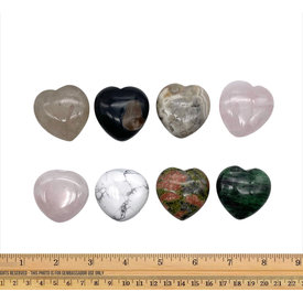 Assorted Hearts - 40mm (8 piece parcel)