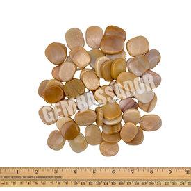 Peach Moonstone - Palm Stone Small (1 lb parcel)