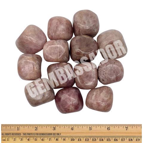Strawberry Quartz - Tumbled XL (1 kg parcel)