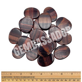 Red Tiger's Eye - Palm Stone Large (1 lb parcel)