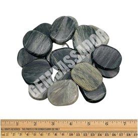 Green Hair Jasper - Palm Stone Large (1lb parcel)
