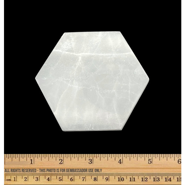 Selenite - Charging Plate - Hexagon (10 cm)